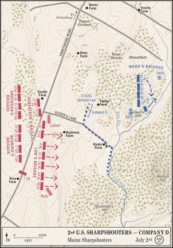 Map of the 2nd U.S. Sharpshooters--Company D.