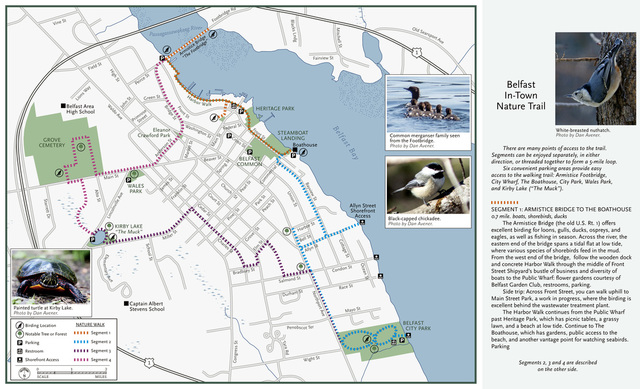 Belfast In-Town Nature Trail map