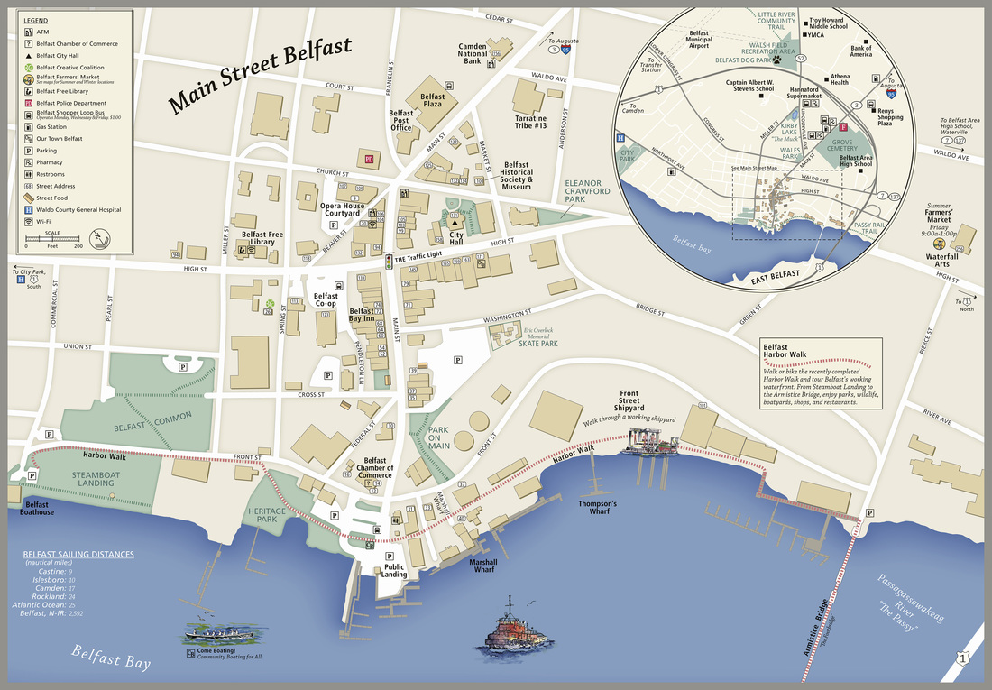 Our Town Belfast, Downtown Belfast Map